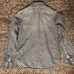 Tops - Long Sleeve Jean Button Down